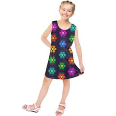 Pattern Background Colorful Design Kids  Tunic Dress