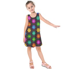 Pattern Background Colorful Design Kids  Sleeveless Dress