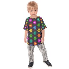 Pattern Background Colorful Design Kids  Raglan Tee