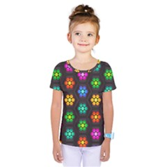 Pattern Background Colorful Design Kids  One Piece Tee