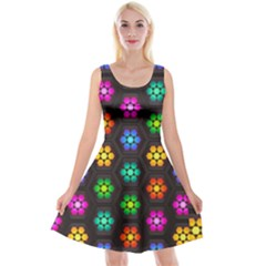 Pattern Background Colorful Design Reversible Velvet Sleeveless Dress