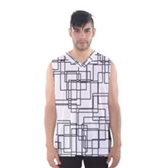 Structure Pattern Network Men s Basketball Tank Top by Amaryn4rt