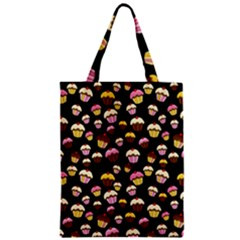 Jammy Cupcakes Pattern Zipper Classic Tote Bag by Valentinaart
