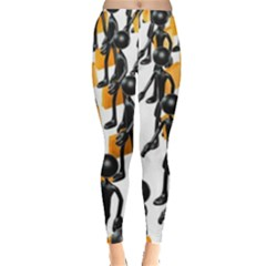 Business Men Marching Concept Leggings  by Jojostore