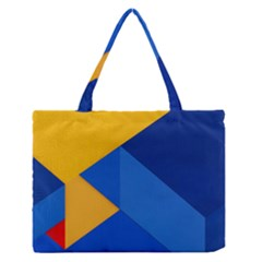 Box Yellow Blue Red Medium Zipper Tote Bag by Jojostore