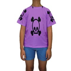 Cartoonskull Danger Kids  Short Sleeve Swimwear by Jojostore
