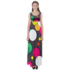 Color Balls Empire Waist Maxi Dress by Jojostore