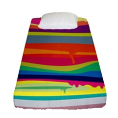 Colorfull Rainbow Fitted Sheet (single Size) by Jojostore