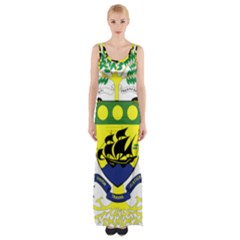 Coat Of Arms Of Gabon Maxi Thigh Split Dress by abbeyz71