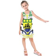 Coat of Arms of Gabon Kids  Sleeveless Dress by abbeyz71