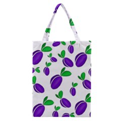 Decorative Plums Pattern Classic Tote Bag by Valentinaart