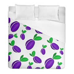 Decorative Plums Pattern Duvet Cover (full/ Double Size) by Valentinaart