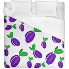 Decorative Plums Pattern Duvet Cover (king Size) by Valentinaart