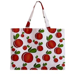 Peaches Pattern Zipper Mini Tote Bag by Valentinaart
