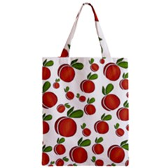Peaches Pattern Zipper Classic Tote Bag by Valentinaart