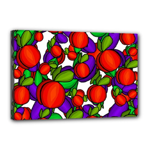 Peaches And Plums Canvas 18  X 12  by Valentinaart