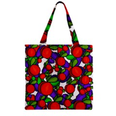 Peaches And Plums Grocery Tote Bag by Valentinaart