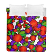 Peaches And Plums Duvet Cover Double Side (full/ Double Size) by Valentinaart