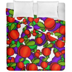 Peaches And Plums Duvet Cover Double Side (california King Size) by Valentinaart