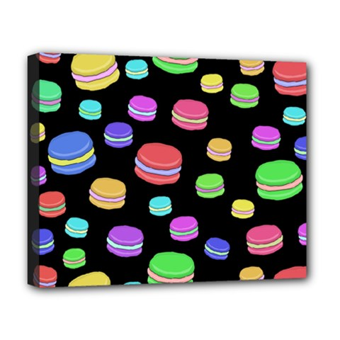 Colorful Macaroons Deluxe Canvas 20  X 16   by Valentinaart