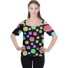 Colorful Macaroons Women s Cutout Shoulder Tee by Valentinaart