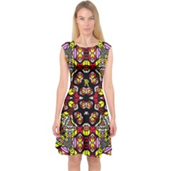 Queen Design 456 Capsleeve Midi Dress by MRTACPANS