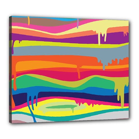 Colorfull Rainbow Canvas 24  X 20  by Jojostore