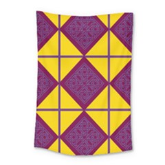 Complexion Purple Yellow Small Tapestry by Jojostore
