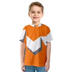 Cute Orange Chevron Kids  Sport Mesh Tee by Jojostore