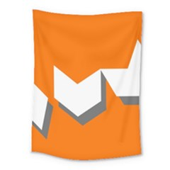 Cute Orange Chevron Medium Tapestry