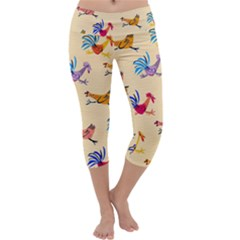 Chicken Capri Yoga Leggings