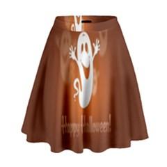 Funny Halloween High Waist Skirt by Jojostore