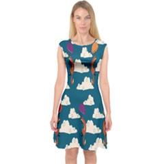 Foxfabricsmall Weasel Capsleeve Midi Dress