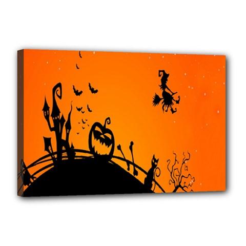 Halloween Day Canvas 18  X 12  by Jojostore