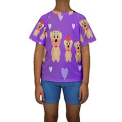 Happy Bears Cute Kids  Short Sleeve Swimwear by Jojostore