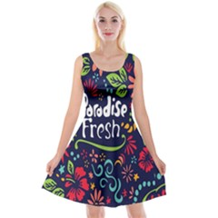 Hawaiian Paradise Fresh Reversible Velvet Sleeveless Dress by Jojostore