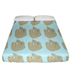 Kukang Animals Fitted Sheet (queen Size) by Jojostore