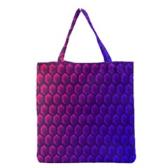 Outstanding Hexagon Blue Purple Grocery Tote Bag