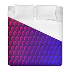 Outstanding Hexagon Blue Purple Duvet Cover (full/ Double Size)