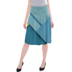 New Bok Blue Midi Beach Skirt by Jojostore