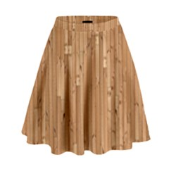 Parquet Floor High Waist Skirt by Jojostore