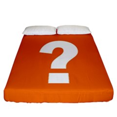 Question Mark Fitted Sheet (california King Size) by Jojostore