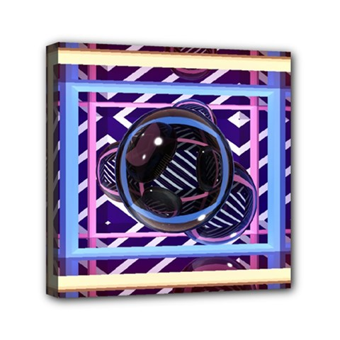 Abstract Sphere Room 3d Design Mini Canvas 6  X 6  by Amaryn4rt
