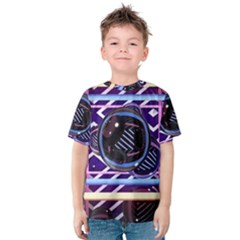 Abstract Sphere Room 3d Design Kids  Cotton Tee by Amaryn4rt