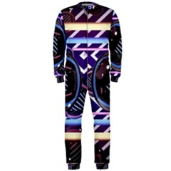Abstract Sphere Room 3d Design Onepiece Jumpsuit (men)  by Amaryn4rt