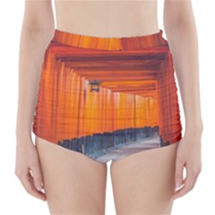 Architecture Art Bright Color High Waisted Bikini Bottoms by Amaryn4rt