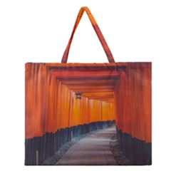 Architecture Art Bright Color Zipper Large Tote Bag by Amaryn4rt