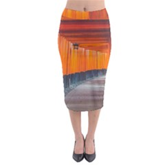 Architecture Art Bright Color Midi Pencil Skirt by Amaryn4rt