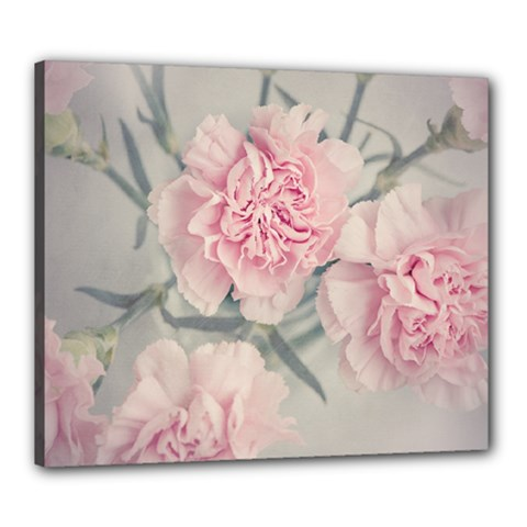 Cloves Flowers Pink Carnation Pink Canvas 24  X 20