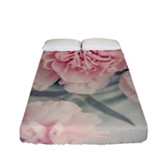 Cloves Flowers Pink Carnation Pink Fitted Sheet (full/ Double Size) by Amaryn4rt